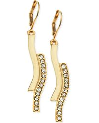 T Tahari Crystal S-Drop Earrings - Lyst