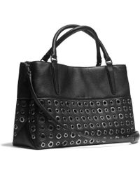 COACH - The Grommets Soft Borough Bag in Pebbled Leather - Lyst fe1d181806