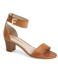 Blondo - 'dalina' Leather Ankle Strap Sandal - Lyst