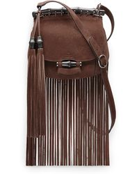 Gucci Nouveau Suede Fringe Shoulder Bag - Lyst