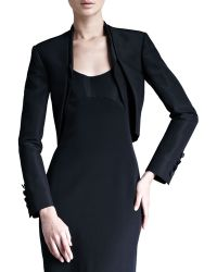 Carolina Herrera Silk Faille Bolero Jacket - Black 14 - Lyst