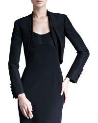 Carolina Herrera Silk Faille Bolero Jacket - Lyst