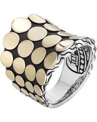John Hardy Dot Silver & 18K Gold Saddle Ring - Lyst