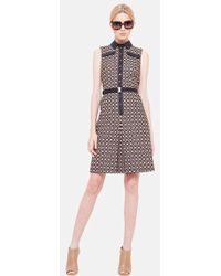 Akris Punto Dot Embroidered Shirt Dress - Lyst
