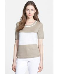 Lafayette 148 New York Colorblock Sweater - Lyst