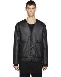 T By Alexander Wang - Black Reversible Cardigan Jacket - Lyst