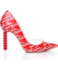 Sophia Webster Coco 'Share A Coca Cola' Pump red - Lyst