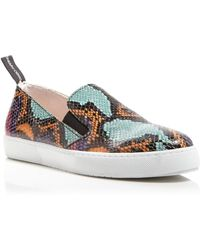 Moschino Cheap & Chic Flat Slip On Sneakers - Snake Print - Lyst