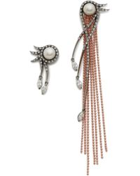 Katie Rowland - L'eclipse Drop Earrings - Rose Gold/pearl/lavender - Lyst