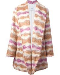 Agnona Wavy Striped Cardi-Coat - Lyst