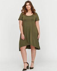 Addition Elle - L&l High-low Short T-shirt Dress - Lyst