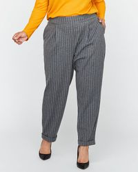 Addition Elle - Striped Fine Knit Pull-on Cropped Pants - Michel Studio - Lyst