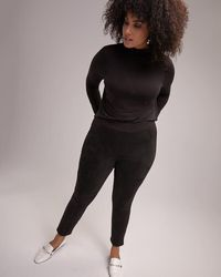 Addition Elle - Pdr And Faux Suede Legging - Michel Studio - Lyst