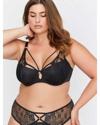 6502c14e8 Addition Elle - Micro Jersey Demi Cup Diva Bra With Lace - Ashley Graham -  Lyst