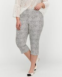 Addition Elle - Michel Studio Printed Pull-on Cropped Pants - Lyst