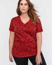 Addition Elle - L&l Printed Boyfriend T-shirt - Lyst