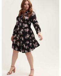 5aac66e5db Y.A.S Y.a.s Studio Tall Liana Full Pleated Prom Midi Dress In Floral ...