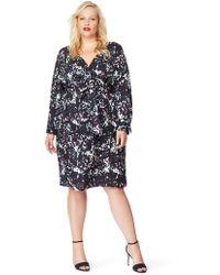 b8fab4b7c5f2 Addition Elle - Faux Wrap Printed Dress - Rebel Wilson X Angels - Lyst
