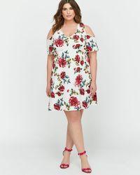 Lyst - Charlotte Russe Plus Size Floral Cold Shoulder Bustier Dress