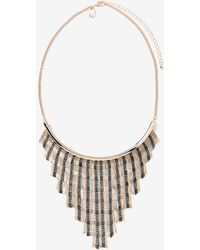 Addition Elle - Dangling V Chain Necklace - Lyst