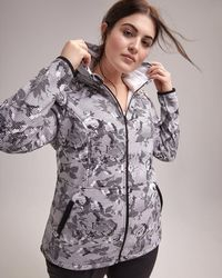 85cfcef3f4a Addition Elle - Plus Size Printed Jacket With Hood - Activezone - Lyst