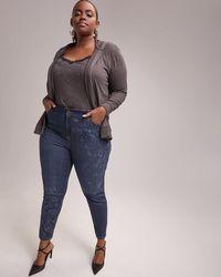 877a8e2edb5 Addition Elle - Slightly Curvy Skinny Leg Jean With Print - D c Jeans -