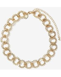 Addition Elle - Ornate Ring Choker Necklace - Lyst