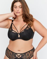 2c3c75254eaeb Addition Elle - Micro Jersey Demi Cup Diva Bra With Lace - Ashley Graham -  Lyst