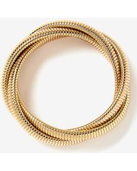 Addition Elle - Three Twist Snake Chain Bracelet - Lyst