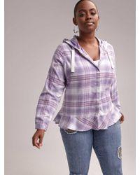 2a4e836e85bd34 Addition Elle - Plaid Blouse With Hood - D/c Jeans - Lyst