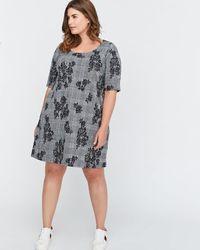 Addition Elle - A-line Jacquard Dress - Michel Studio - Lyst