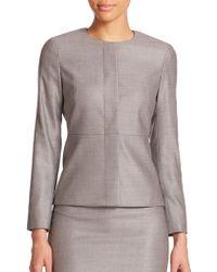 Max Mara Martin Wool & Silk Jacket gray - Lyst