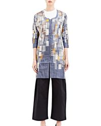 Swati Kalsi - Women's Embroidered Scoop Neck Jacket In Grey - Lyst