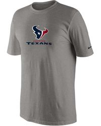 Nike Houston Texans Nfl Base Authentic Logo Tshirt - Lyst