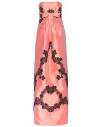 Dolce & Gabbana Appliquéd Silk Taffeta Gown - Lyst
