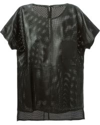 Anne Vest 'Tia' Perforated Leather Top - Lyst