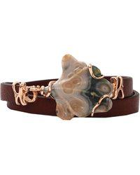 Federica Rettore Petalo Leather Wrap Bracelet - Lyst