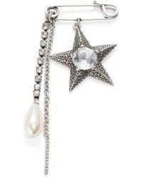 Gerard Yosca - Faux Pearl-accented Charmed Safety Pin Brooch - Lyst