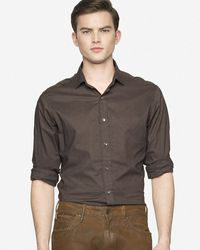 Ralph Lauren Black Label Dotted Sloan Shirt - Lyst