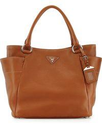 Prada Daino Side-Pocket Tote Bag - Lyst