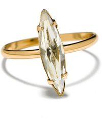 Bing Bang Crystal Shard Swarovski And 14K Yellow Gold Ring - Lyst