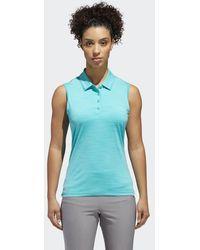 adidas - Ultimate365 Sleeveless Polo Shirt - Lyst