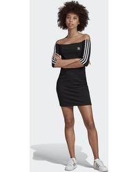 adidas Vestido Off-the-Shoulder - Negro