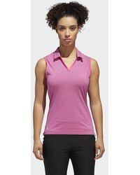 adidas - Ultimate365 Stripe Sleeveless Polo Shirt - Lyst