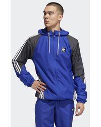 0384c21d5868dd Lyst - adidas Scotland Fa 2018 19 Rain Jacket in Blue for Men