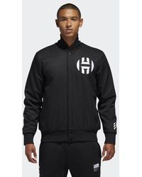 adidas - Harden Varsity Jacket - Lyst