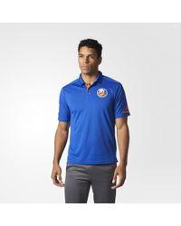 adidas - Islanders Pro Locker Room Polo Shirt - Lyst