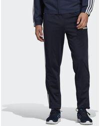 b2f7c9c90 adidas Essentials 3-stripes Pants in Blue for Men - Lyst