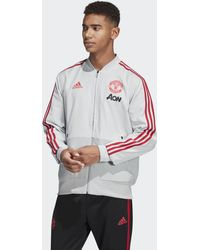 adidas - Manchester United Presentation Jacket - Lyst