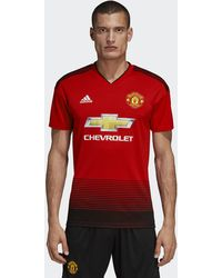 fc293a1d960 adidas Manchester United Icon Tee in Black for Men - Lyst